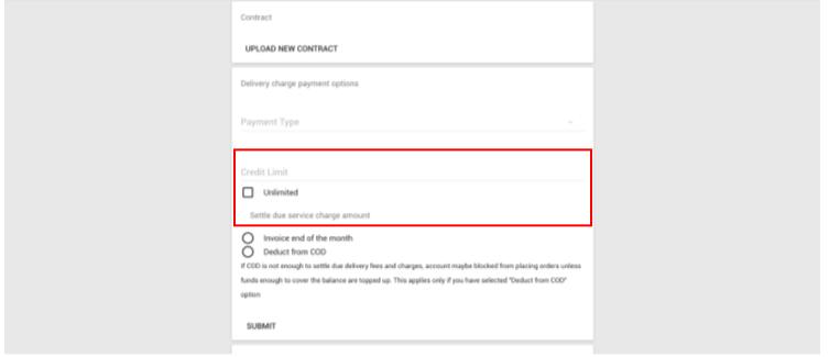 Customer account management