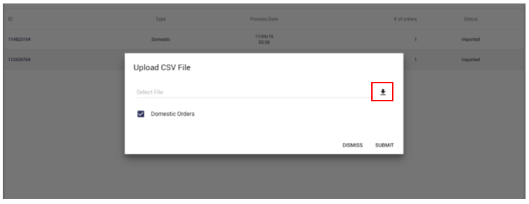 Uploading multiple orders with CSV
